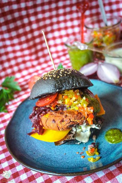 veganer Bohnen-Burger