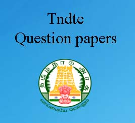 TNDTE QUESTION PAPER 2019