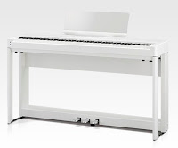 Kawai ES920 white piano with stand and triple pedal-bar