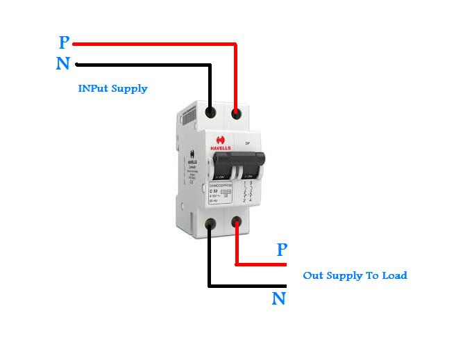 double pole breaker wiring in urdu/hindi video tutorial