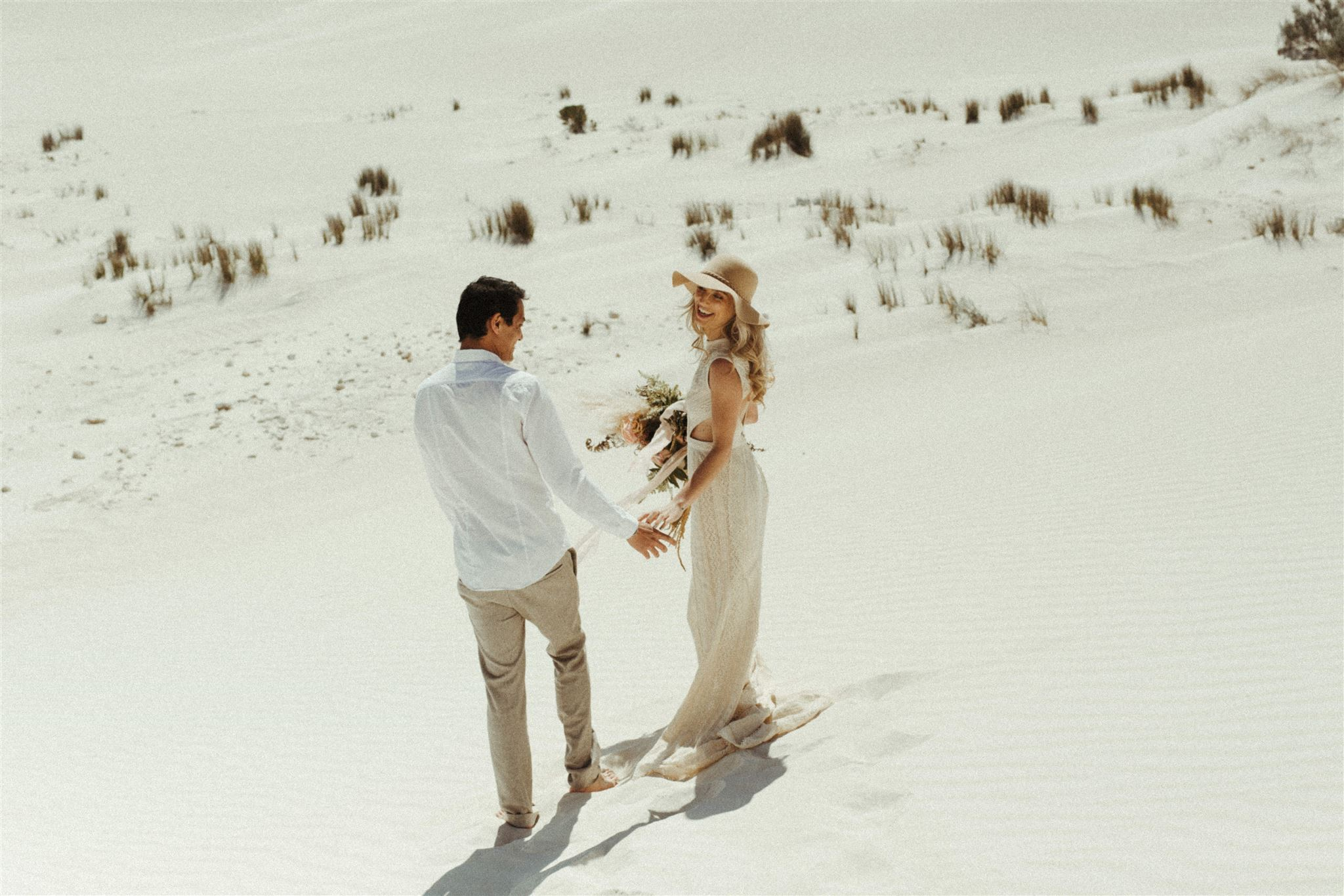 the road west wedding photography perth bridal shoot outdoor boho picnic styling