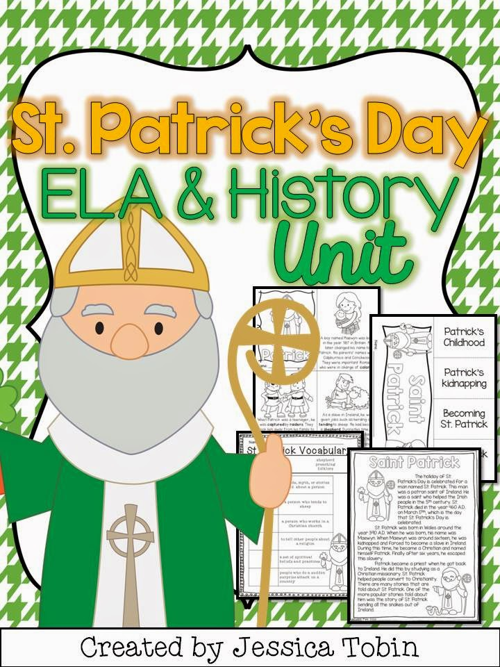 St. Patrick's Day Activities- learning the history and biography about St. Patrick- great for social studies content