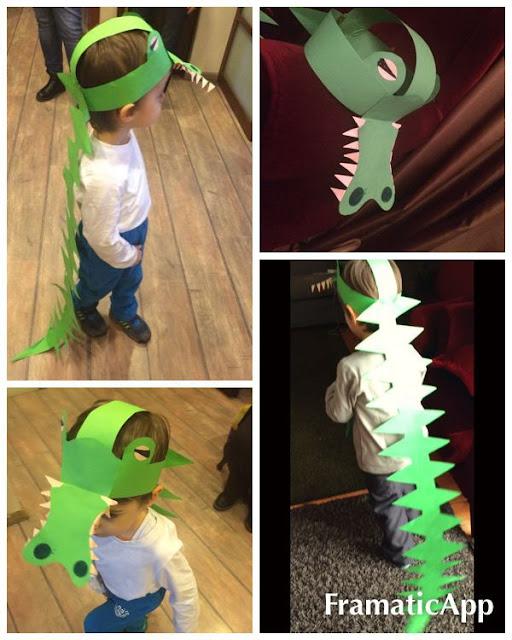 disfraz casero de cocodrilo fácil