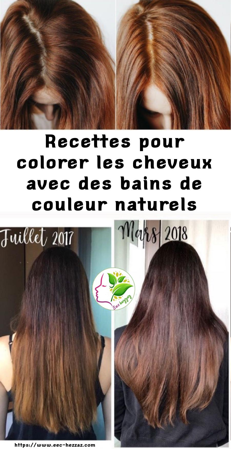 Recettes pour colorer les cheveux avec des bains de couleur naturels