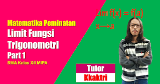 Menyelesaikan Limit Fungsi Trigonometri dengan metode substitusi dan rumus dasar