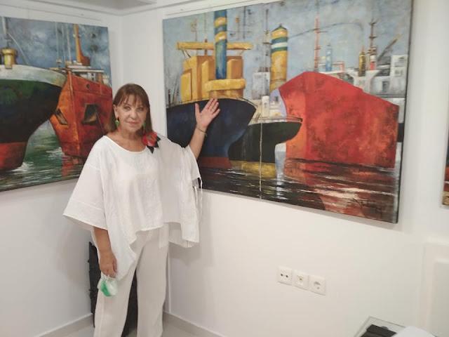 """Ναύπλιο: Συνεχίζεται η έκθεση της Χάρις Τσεκούρα στη """"Vasiliki galerie d'art"""""""