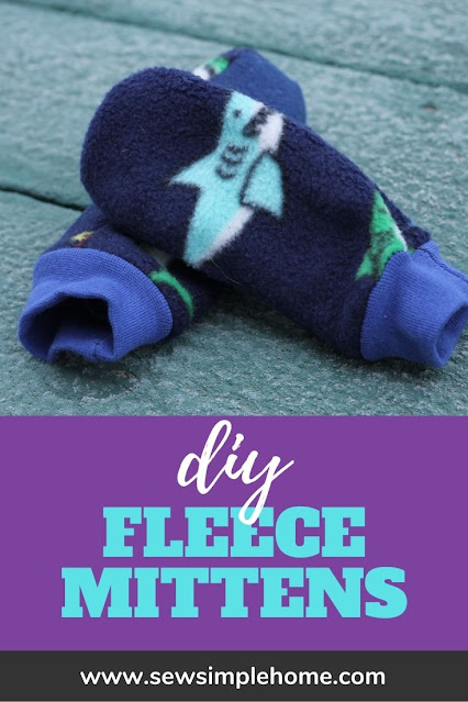Make your own kids mittens with this printable mitten template and fleece mitten pattern.