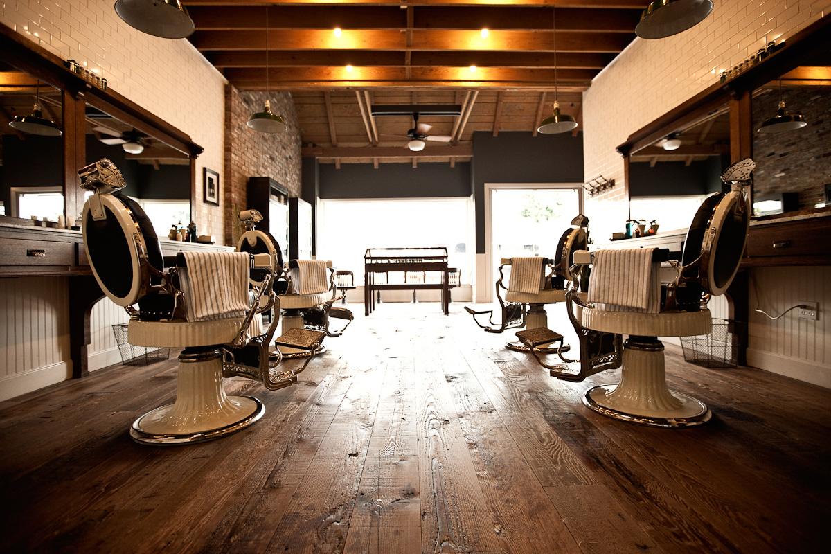 ALEXANDER WATERWORTH INTERIORS: INTERIORS INSPIRATION: BAXTER ... - Modern Barber Shop Interior