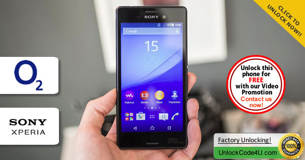 Factory Unlock Code Sony Xperia M4 Aqua from O2