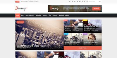 Domag - скачать бесплатно шаблон для blogger blogspot