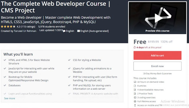 [100% Off] The Complete Web Developer Course | CMS Project| Worth 199,99$
