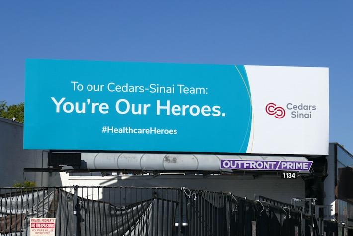 Cedars-Sinai Team Youre Our Heroes billboard