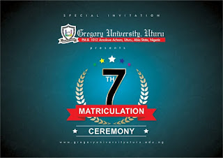 Gregory University Uturu (GUU) 7th Matriculation Ceremony