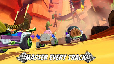 Welcome to downhill racing on Piggy Island Angry Birds Go! v2.0.24 Unlimited Money Apk + Data