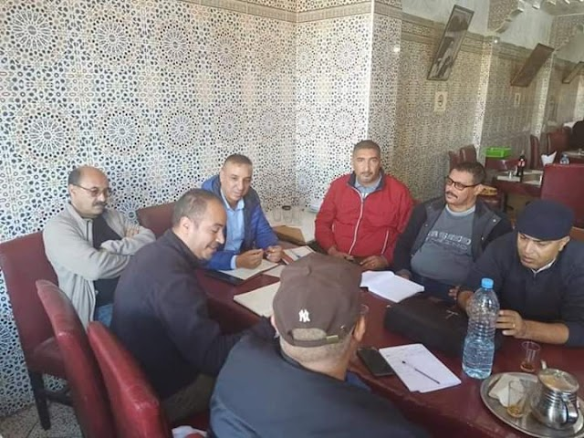الاستعداد للمؤتمر الجهوي للجامعة الوطنية لسوس ماسة المنضوية تحت لواء الاتحاد المغربي للشغل رفقة المكاتب الإقليمية للجامعة بسوس ماسة.