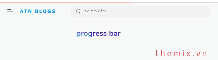 Thêm hiệu ứng progress bar đầu trang giống Youtube khi tải trang cho Blogspot