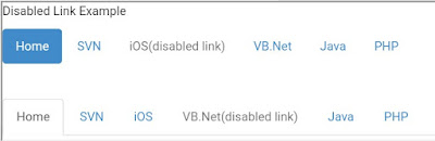 Disabled Links