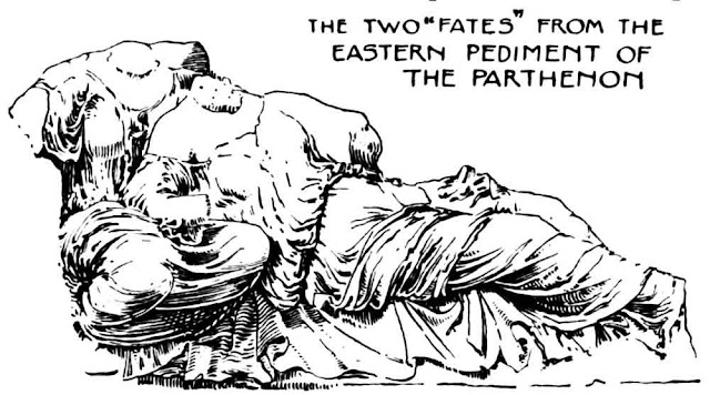 """The two """"Fates"""" from the Eastern Pediment of the Parthenon"""