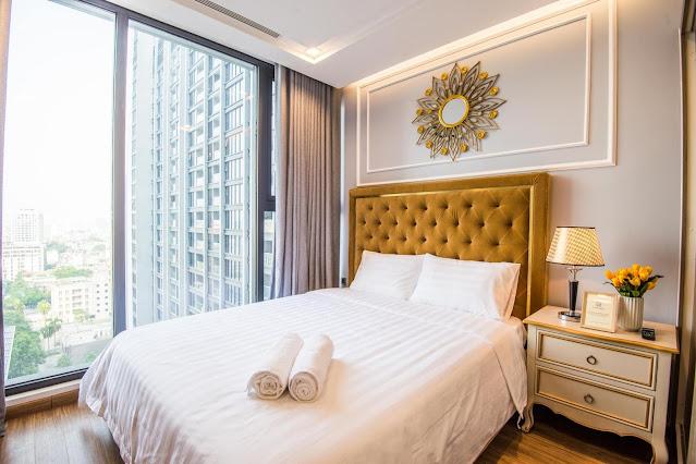 Phòng ngủ căn hộ Vinhomes Metropolis