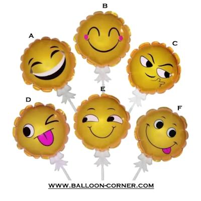 Mini Smile Foil Balloon Cake Topper