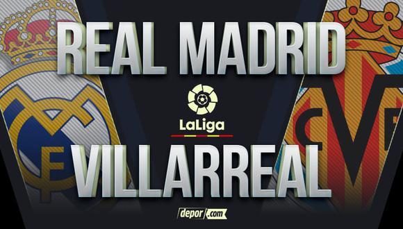 Real Madrid vs. Villarreal EN VIVO: canales de TV para ver hoy partido por LaLiga