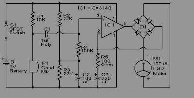 Skema rangkaian sound level meter