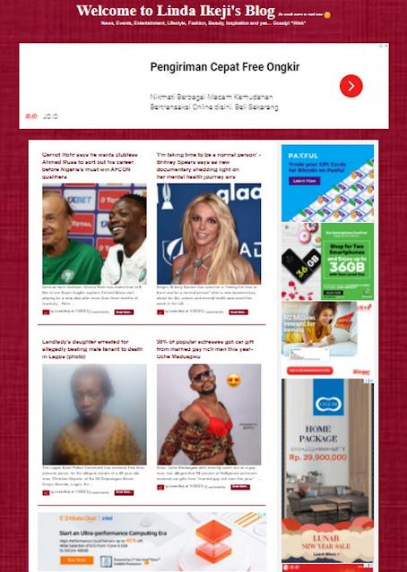 Kisah Sukses Linda Ikeji Menjadi Blogger Dunia;Kisah Sukses Linda Ikeji Saat Merintis Dunia Blog;Kesuksesan Linda Ikeji dengan Blog;