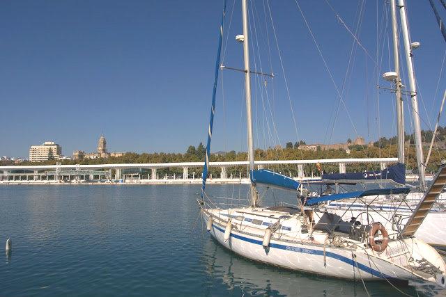 marina, port, jachty Malaga