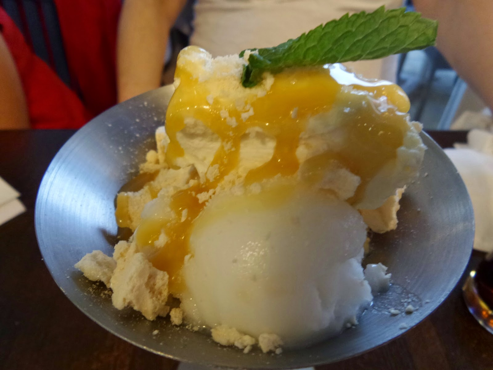 Zizzi's Lemon Meringue Sundae