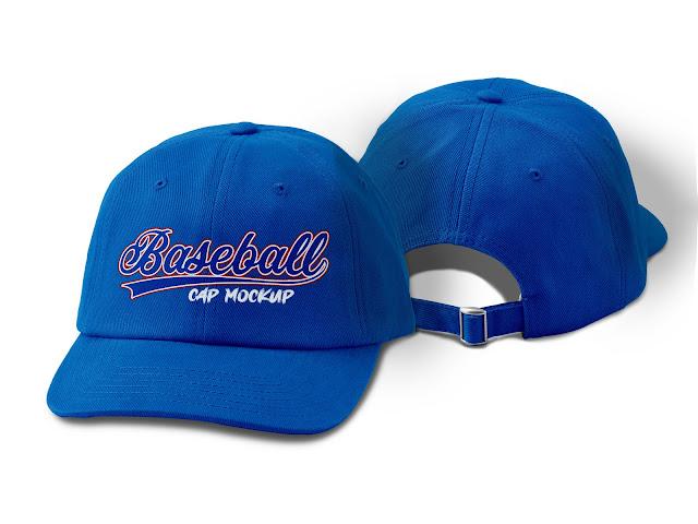 Mockup Topi Baseball Custom #01 Gratis
