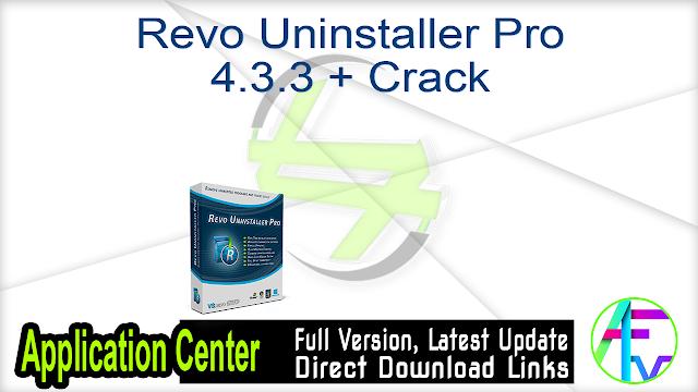 Revo Uninstaller Pro 4.3.3 + Crack