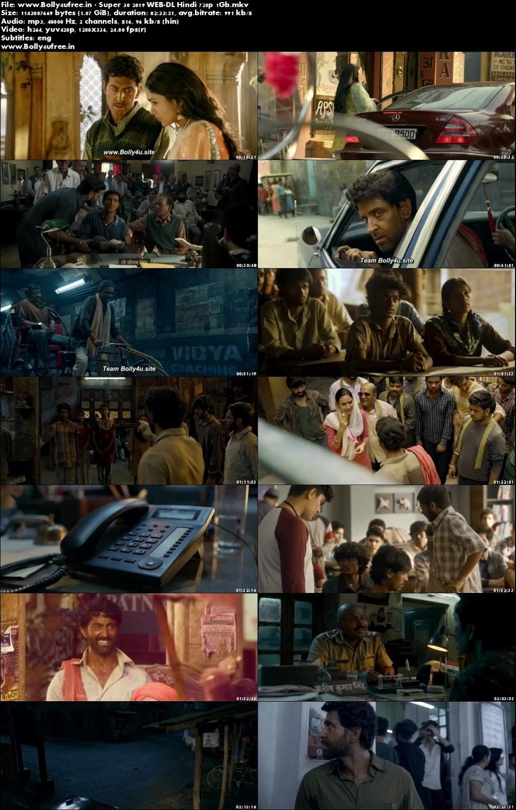 Super 30 2019 Hindi Full Movie Download WEB-DL 720p 1GB