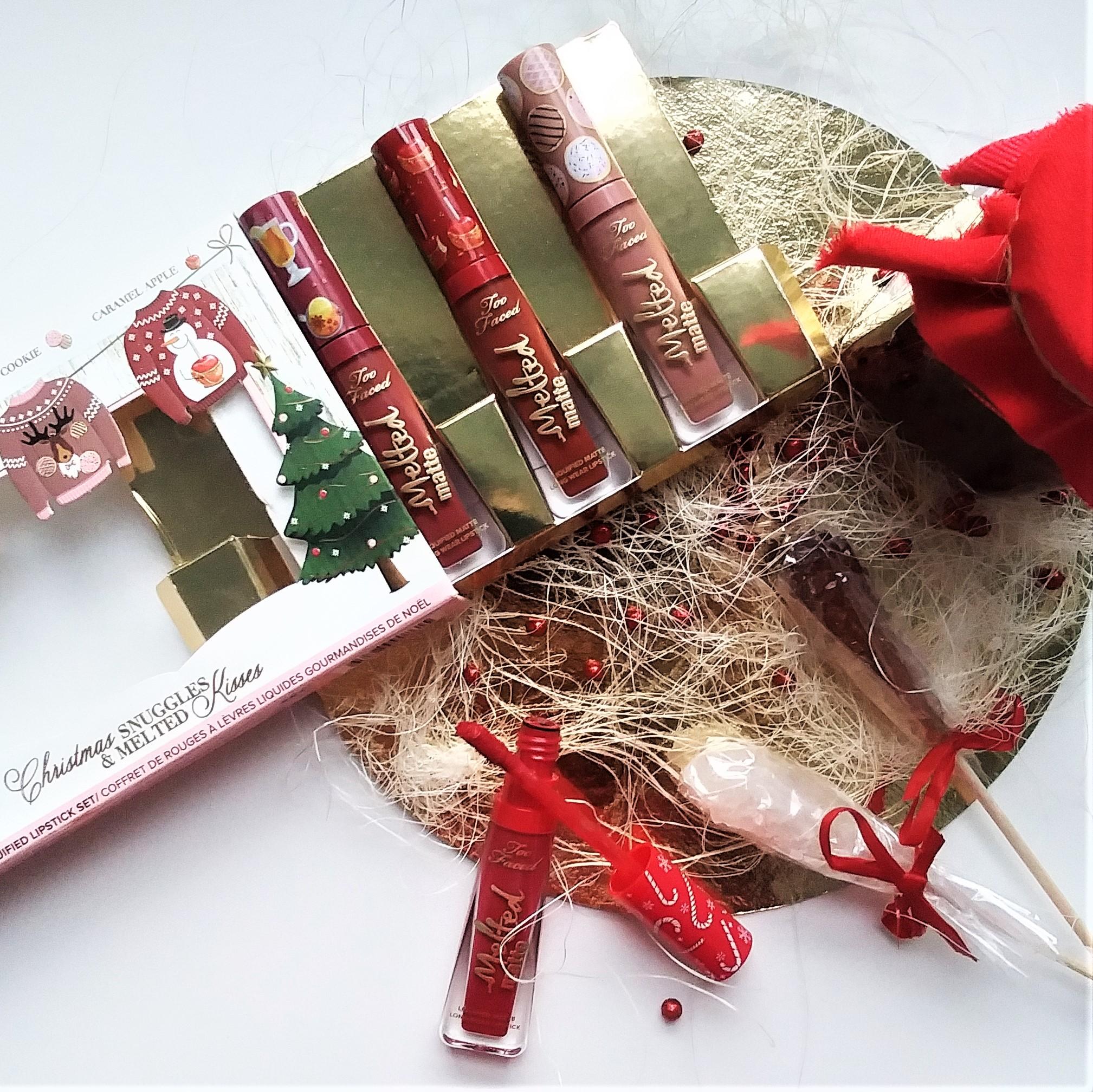 pomadki matowe, pomadki płynne, zestaw świąteczny