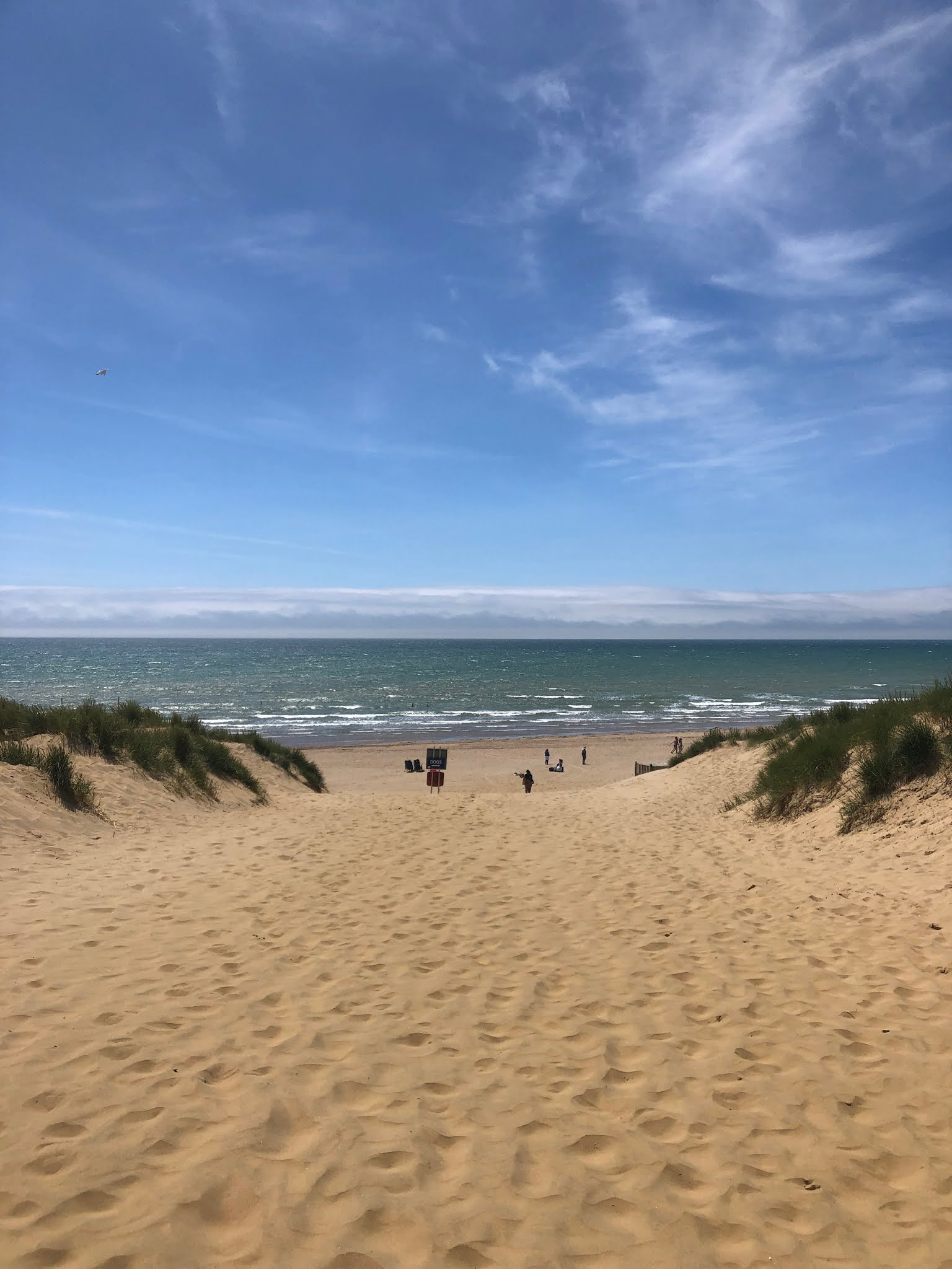 sand and sea at camber sands beach