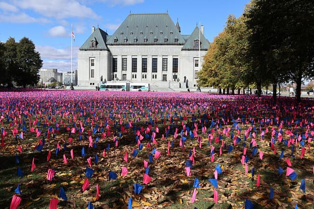 pro-life flags in Ontario