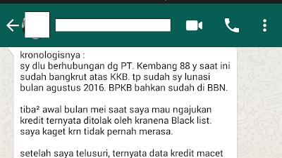 Black List Karena Rekanan CIMB Niaga