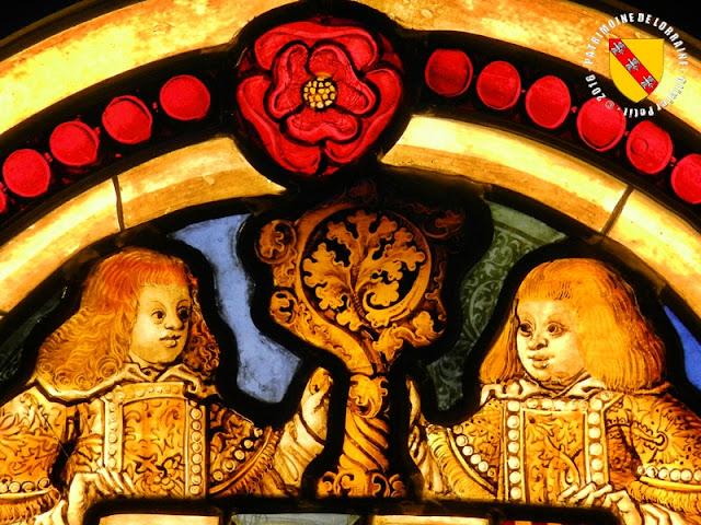 NANCY (54) - Musée lorrain : Vitrail aux armes de Jean de Lorraine, évêque de Metz (1508-1518)