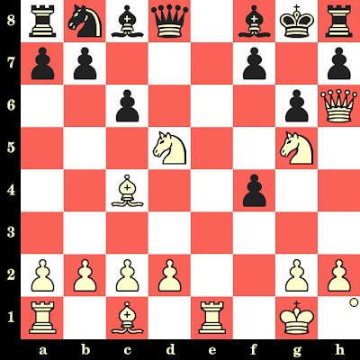 Les Blancs jouent et matent en 4 coups - Bjorn Nielsen vs Moller Jensen, Herning, 1926