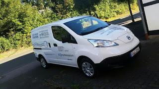 Nissan eNV200 elektro transporter Testfahrt stuck belz