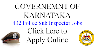 402 Police Sub Inspector Job opportunities in Karnataka