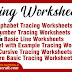 Tracing Worksheets: Alphabet, Numbers, Lines, Cursive Letters, and Other activities