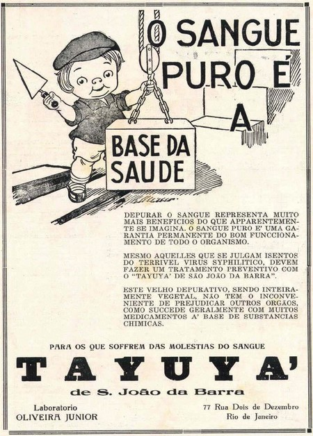 Propaganda antiga do fortificante Tayuya veiculada em 1928