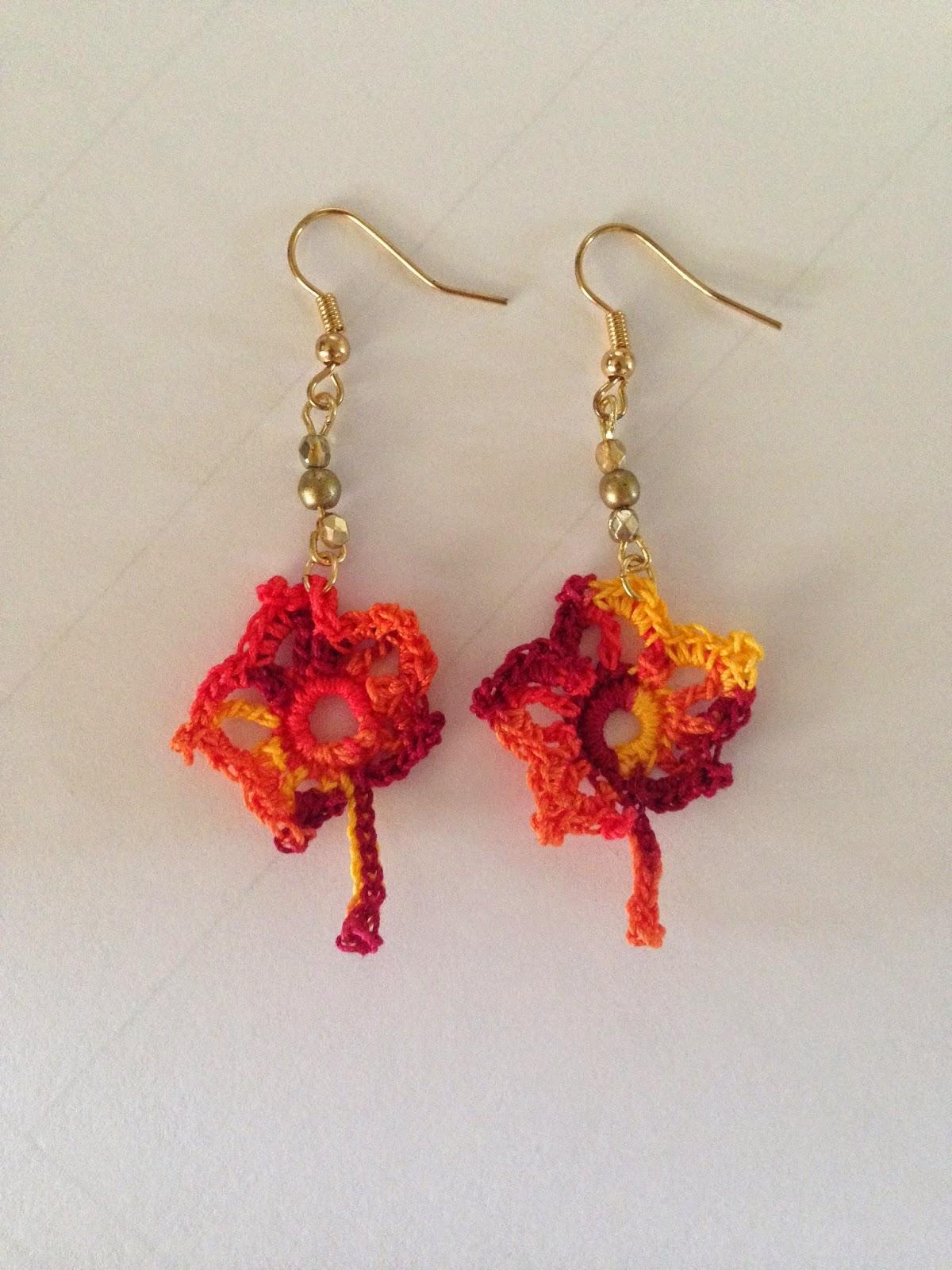 All Things Chateau de Savoy: Fall Leaves Crochet Earrings