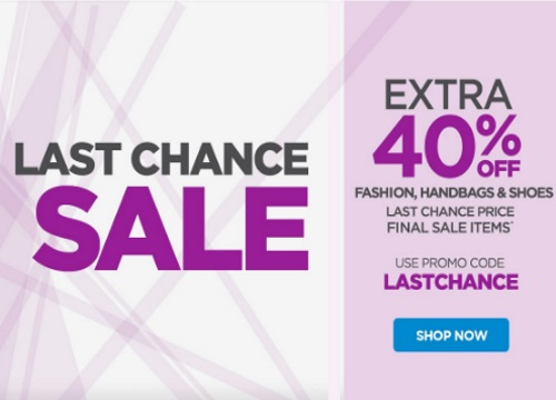 The Shopping Channel Extra 40% Off Last Chance Clearance Fashion, Handbags & Shoes Promo Code