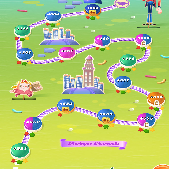Candy Crush Saga level 4551-4565