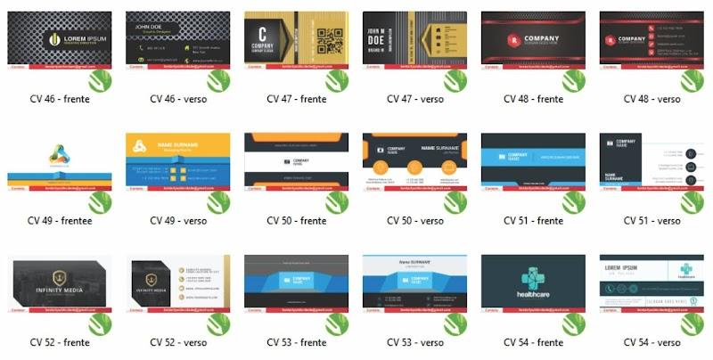 Pack cartão visita Corel Draw Download Grátis