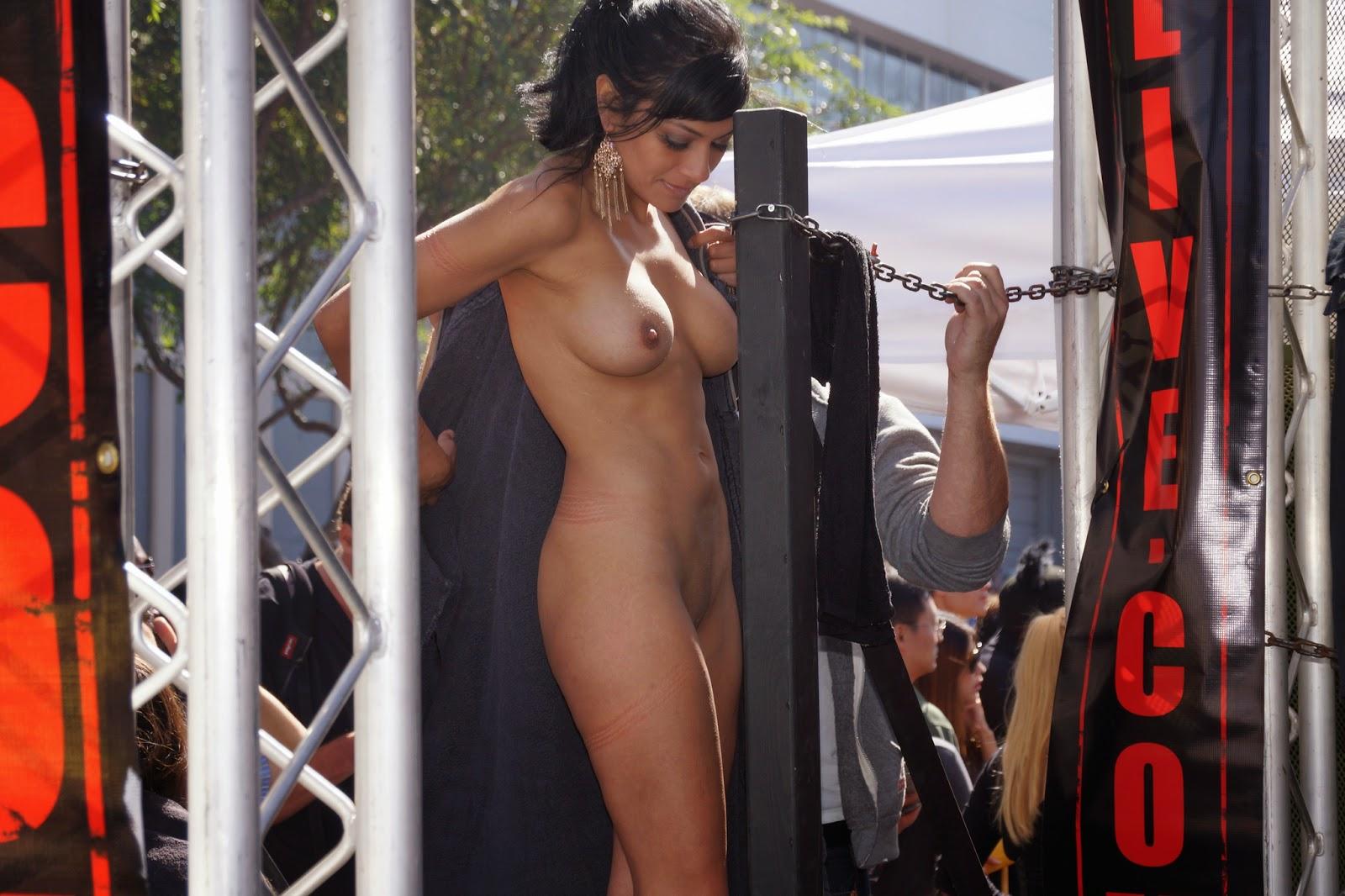 Naked public street nude