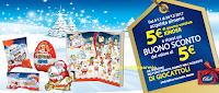 Logo Il Natale con Kinder che ti regala buoni Catalina da 5€
