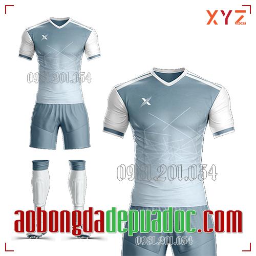 Áo Ko Logo XYZ-02 Màu Trắng Xám