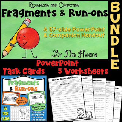 Teach students to recognize and correct fragments and run-on sentences in their writing!